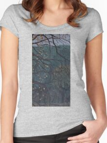 Apple tree (autumn prelude) Women's Fitted Scoop T-Shirt