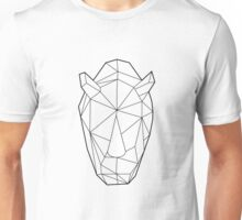 Wire Faceted Rhino Unisex T-Shirt