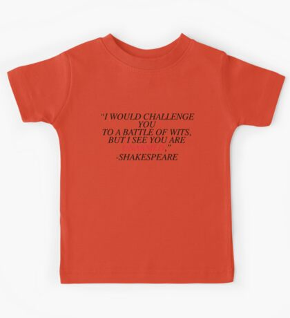 Shakespeare-Battle of Wits Kids Tee