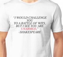 Shakespeare-Battle of Wits Unisex T-Shirt