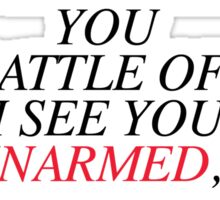 Shakespeare-Battle of Wits Sticker
