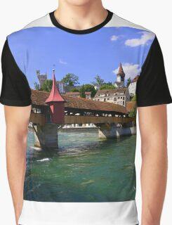 The covered bridge Graphic T-Shirt