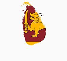 Flag Map of Sri Lanka  Unisex T-Shirt