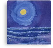 Night Surf original painting Canvas Print