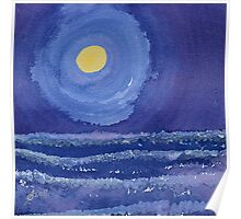 Night Surf original painting Poster