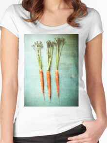 Three Carrots Women's Fitted Scoop T-Shirt