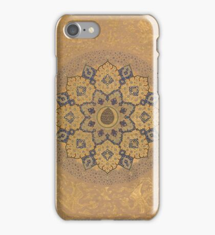 Rosette Bearing the Name and Title of Emperor Aurangzeb (Recto), from the Shah Jahan Album , Mir 'Ali Haravi iPhone Case/Skin