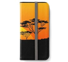 African sunset simple art iPhone Wallet/Case/Skin
