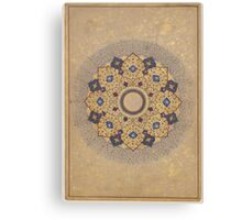 Rosette Bearing the Names and Titles of Shah Jahan, Folio from the Shah Jahan Album Canvas Print
