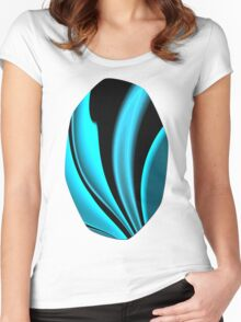 Abstract Fractal Colorways 02 Pacific Blue Women's Fitted Scoop T-Shirt