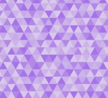 Triangular Pattern Purple Sticker