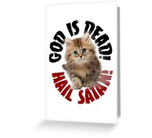 God Is Dead No3 Greeting Card