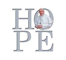 Hope with Pope Francis Photographic Print
