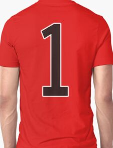1, TEAM SPORTS, STENCIL, NUMBER 1, ONE, FIRST, Numero Uno, Uno, Ichi, Win, Winner, Competition T-Shirt