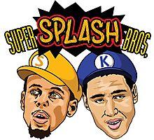 Stephen Curry splash bros Photographic Print