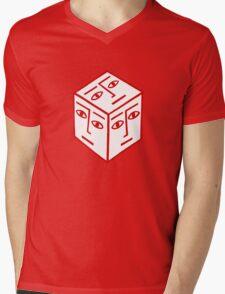 Cube Dude Mens V-Neck T-Shirt