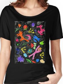 oil pastel pattern Women's Relaxed Fit T-Shirt