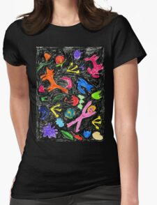 oil pastel pattern Womens Fitted T-Shirt