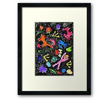 oil pastel pattern Framed Print