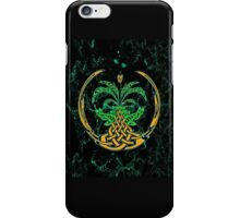 Celtic Tree of Life No2 on an abstract background iPhone Case/Skin