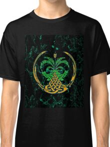 Celtic Tree of Life No2 on an abstract background Classic T-Shirt