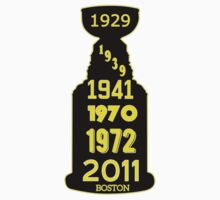 Boston Bruins Stanley Cup Winning Years One Piece - Short Sleeve