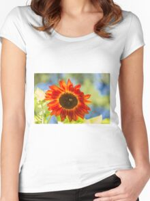 Sunflower 2 Women's Fitted Scoop T-Shirt