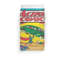 Action comics vintage comics Duvet Cover