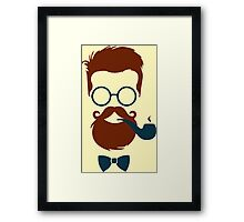 Stylish Hipster Framed Print