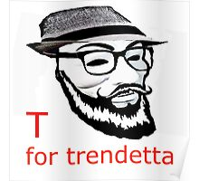 V for vendetta, Guy Fawkes, Anonymous, Mask, Glasses, Beard, Fedora, Hipster, Trend, Trends, Trendy Poster