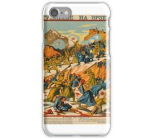 RUSSO-TURKISH WAR -RUSSIAN PROPAGANDA POSTER RELATING TO THE CAUCASUS CAMPAIGN AGAINST THE OTTOMANS IN WORLD WAR I. [MOSCOW, iPhone Case/Skin
