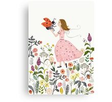 My pet the ladybug Canvas Print