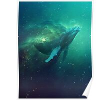 Cosmic Whale Poster