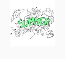 Doodles abstract decorative summer pattern. Classic T-Shirt