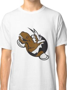 silly grin crazy funny fun face head hole comic cartoon laugh pony stallion Classic T-Shirt