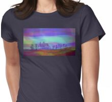Colorful Landscape Womens Fitted T-Shirt