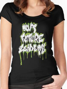 Our Future Leaders Graffiti Green Women's Fitted Scoop T-Shirt