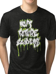 Our Future Leaders Graffiti Green Tri-blend T-Shirt