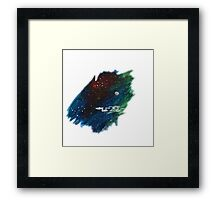 Space painting: USS Enterprise Framed Print