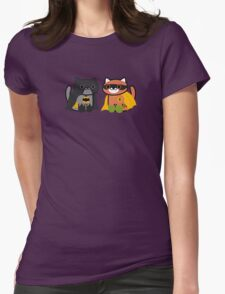 Shadow & Ginger - Crime fighting heroes! (Neko Atsume) Womens Fitted T-Shirt