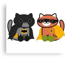Shadow & Ginger - Crime fighting heroes! (Neko Atsume) Canvas Print