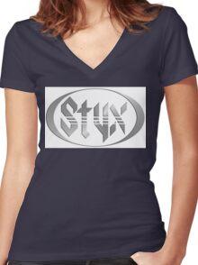 Styx Logo tour Women's Fitted V-Neck T-Shirt