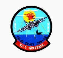 VF- 1 Wolfpack Deactivation Patch Women's Fitted V-Neck T-Shirt