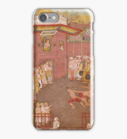The Emperor Shah Jahan with his Son Dara Shikoh, Folio from the Shah Jahan Album iPhone Case/Skin