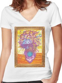 The Mind is the Water Women's Fitted V-Neck T-Shirt