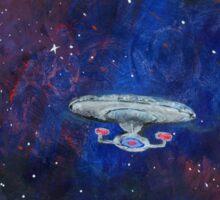 Space painting: USS Enterprise D Sticker