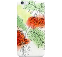 Rowan berry iPhone Case/Skin