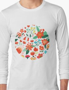 Cute flowers for Valentines Day Long Sleeve T-Shirt
