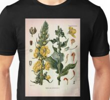 Köhler's Medizinal Pflanzen in naturgetreuen Abbildungen mit kurz erläuterndem Texte  Atlas zur Pharmacopoea 1883 1914 V1 046 Verbascum Phlomoides Unisex T-Shirt