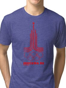 Moscow Olympics 1980 Tri-blend T-Shirt